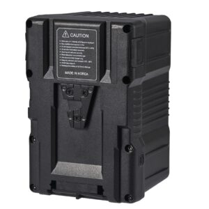 G-B100-390W-26A-Gen Energy-batteries-v mount-D tap-USB-power-video-chargers-back